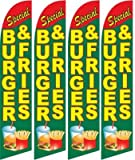 Burger & Fries Feather Banner Flags (Pack of 4) Review