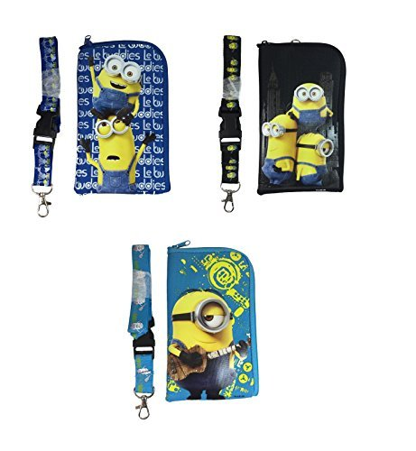 (Despicable Me Minion ID Holder Lanyard set of 3)