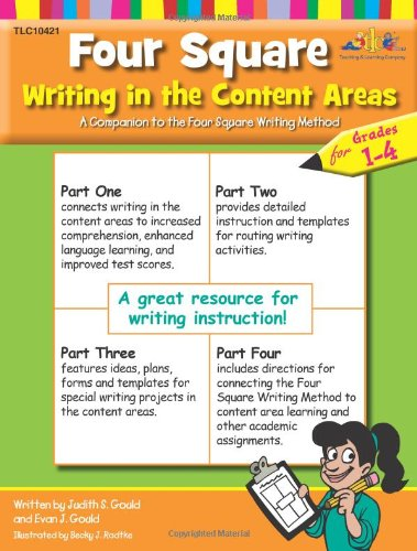 Teaching & Learning Company Four Square Writing in the Content Areas Workbook, Grades 1 - 4