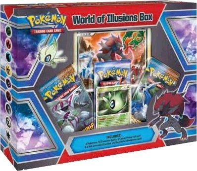 Pokemon Card Game World of Illusions Special Edition Box 3 Booster Packs, Celebi Prime Zoroark Promo