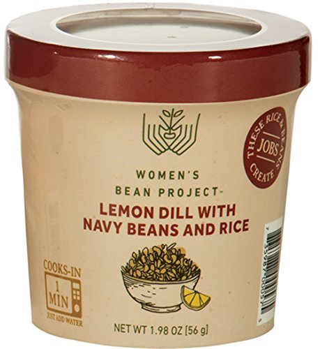 - Women's Bean Project Instant Lemon Dill Rice and Navy Beans Meal Cup, 1.98 Ounces