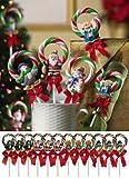 Christmas Wreath Candy Lollipops - Set of 12