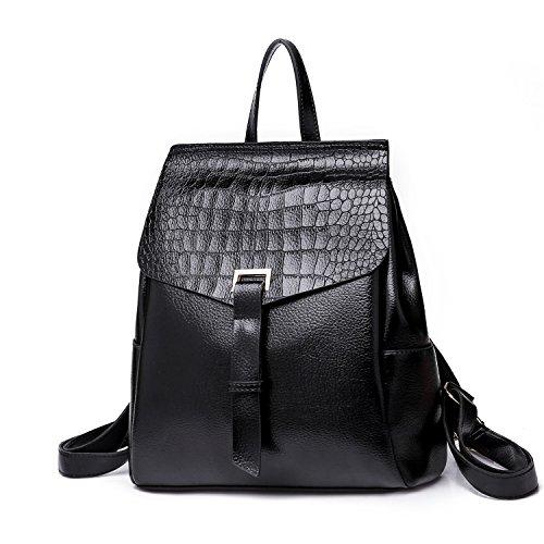 Señoras Funciones Moda Mujeres Brown Diseño Viaje Del color Las Mochila Shishanyun Black M Size De Bolso Múltiples FXwx1gWzq