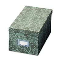 Caja de almacenamiento de tarjetas de índice Globe-Weis /Pendaflex, 3 x 5 pulgadas, verde (93 GRE)