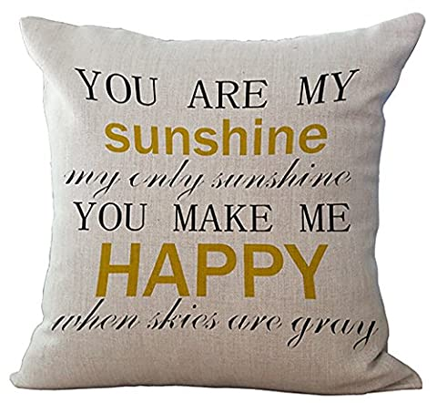 Wisdom Words Printed Cushion Cover LivebyCare Linen Cotton Cover Throw Pillow Case Sham Pattern Zipper Pillowslip Pillowcase For Decor Decorative Drawing Living (Yellow Room Chairs)