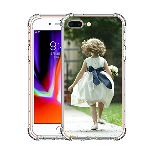 iPhone 8 Plus Customized Case, Personalized Custom Picture Photo HD Printed Cover Case for iphone 8 Plus, Soft Thin Rubber Silicone Shock Absorbing Clear Protective Bumper Case, Birthday Xmas Gift