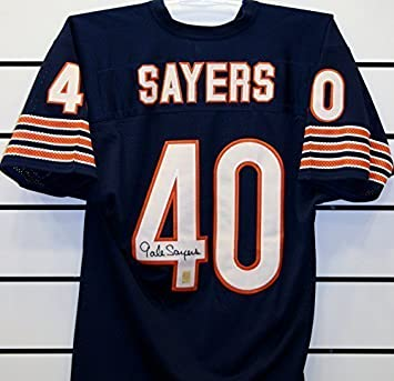 Gale Sayers Autographed Jersey at Amazon s Sports Collectibles Store 99c60b49d