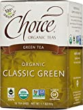 Choice Organic Classic Green Tea, 1.1 Ounces 16-Count Box (Pack of 6)