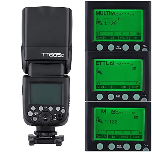 Godox TT685C E-TTL 2.4G Wireless Master Slave Speedlight Flashlight Speedlite for Canon EOS 650D 600D 550D 500D 5D Mark III by Godox