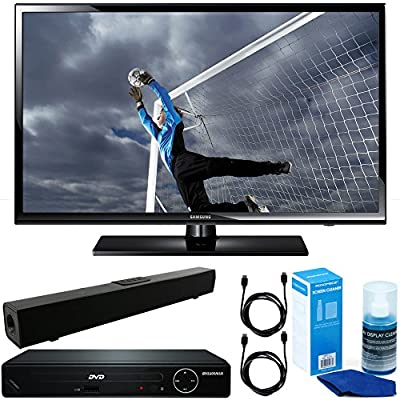 Samsung (UN40H5003) 40-Inch Full 1080p HD 60Hz LED TV with HDMI 1080p HD DVD Player + Solo X3 Bluetooth Home Theater Sound Bar + 2x 6ft HDMI Cable + Universal Screen Cleaner for LED TVs