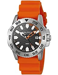 Nautica Men's NAD12529G NSR 20 Analog Display Quartz Orange Watch