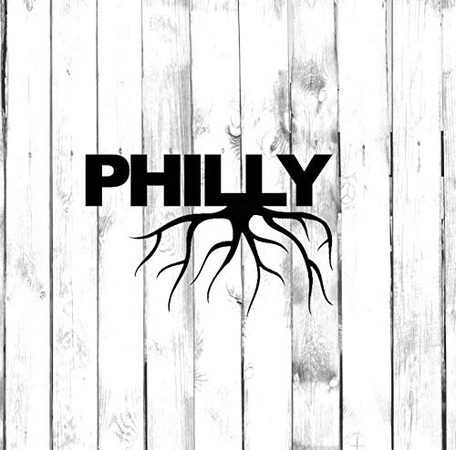 (Philly Philadelphia Wall Decals Decor - USA City State Roots Rooted Art Stickers Decorations - Vinyl Pictures for Office Studio Shop Home Kids Room Bedroom Door Window RT071)