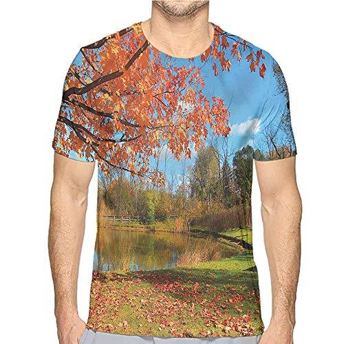 Comfort Colors t Shirt Landscape,Autumn Scene in Michigan t Shirt M