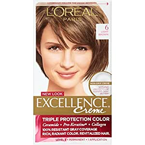 Amazon.com : L\'Oréal Paris Excellence Créme Permanent Hair Color ...