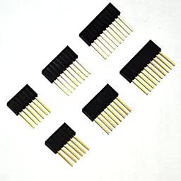 Gikfun Stackable Shield Header Set Kit 6 8 10 Pin For Arduino (Pack of 100pcs) EK8415