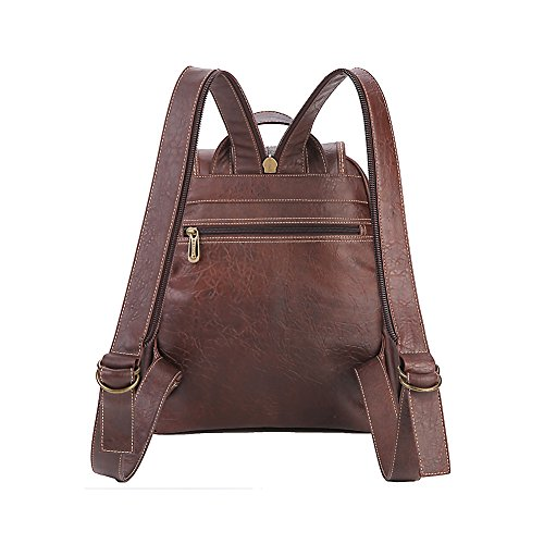 Lycailcy LYC-Lycailcy-A09-20 - Bolso mochila  para mujer Marrón Magnetic Snap Light Brown(9.4 x 4.3 x 11 inches) Small(9.4 x 4.3 x 11 inches) Magnetic Snap Light Brown(10.6 x 4.7 x 12.6 inches)