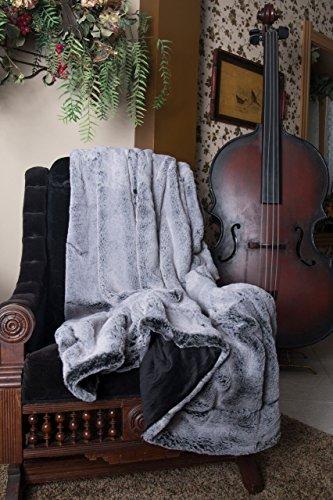 Hen House Designs (Ditz Designs Luxury Plush Faux Fur Throw, Gray Rabbit 60