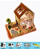 OOFYHOME Music Box-DIY wooden house Model-Creative Birthday gifts Children DIY , B