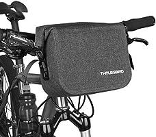 自転車 フロントバッグ ハンドルバーバッグ フレームバッグ トップチューブバッグ 防水 反射 大容量 容量調節可能 ロール式 ダックグレー 収納アクセサリー