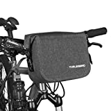 THRLEGBIRD Bike Handlebar Bag, Cycling Handlebar Storage Bag, Bicycle Front Bag, Waterproof Bike Bag, Single-Shoulder Bag for Bike Cycling Touring (Black)