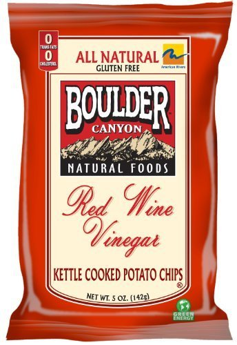 Semi Sweet Wine Red (Boulder Canyon Red Wine Vinegar Kettle Chips 5-Ounce Bags (Pack of 12) - Pack Of 12)