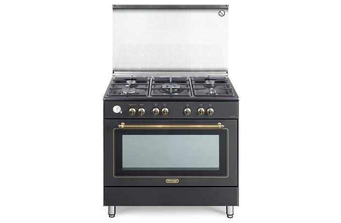 Cucine A Gas Stile Country Prezzi.Cucina A Gas 5 Fuochi Forno Elettrico Ventilato 90x60 Cm Linea