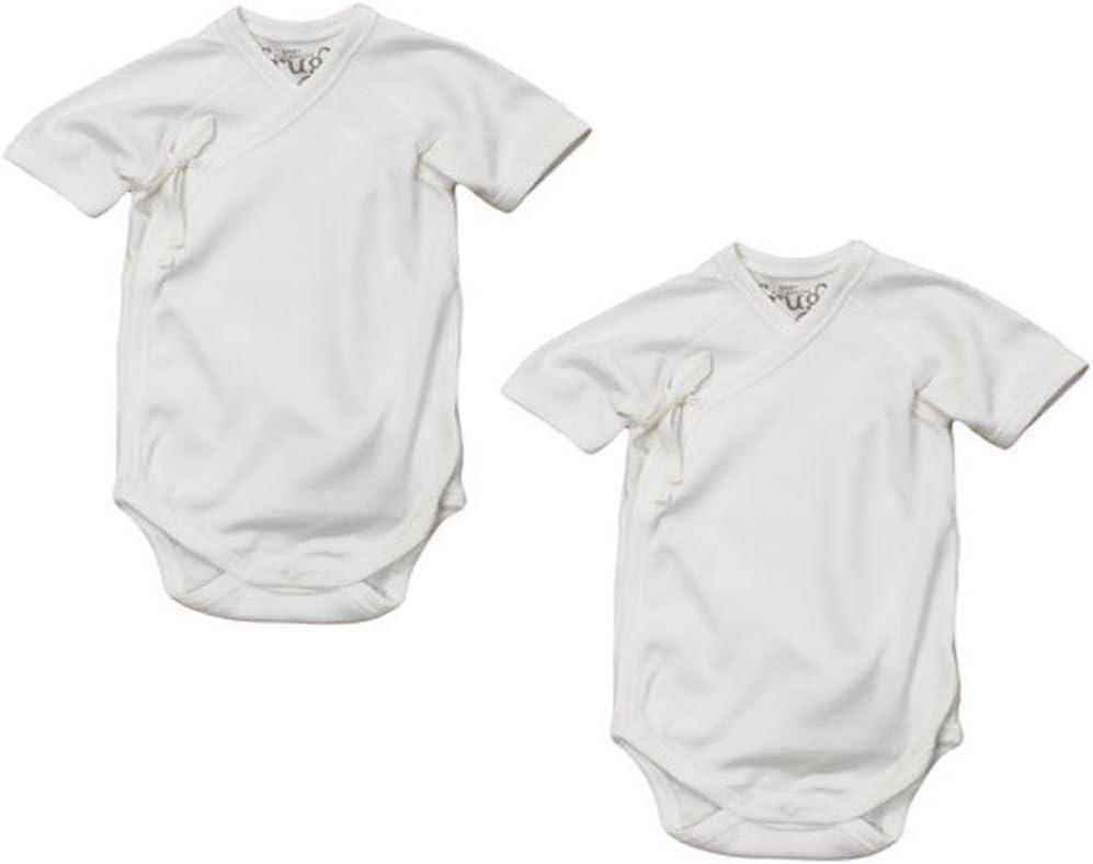 Frugi Organic Cotton Kimono Style Baby Vests, 7 pack. Short