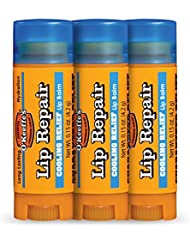 O'Keeffe's Cooling Relief Lip Repair Lip Balm for Dry, Cracked Lips, Stick, (Pack of 3)