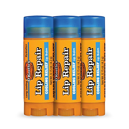 O'Keeffe's Cooling Lip Repair Lip Balm for Dry, Cracked Lips, Stick, (Pack of 3) (Stick Repair)