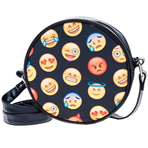 Rumas Fashion Unisex Emoji Leather Handbag Cross Body Shoulder Bag