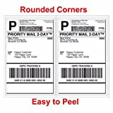 (Appizz)(1000) SHIPPING LABELS ROUNDED CORNERS (2 PER) SHEET (8.5 X 11) SELF ADHESIVE