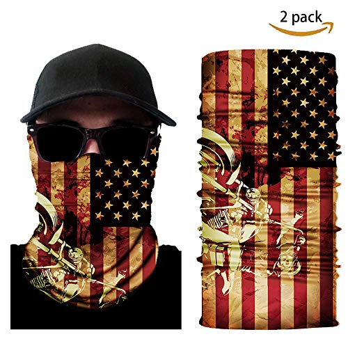Usa Paintball Mask - Wolf Warriors Flag Face Mask 2 Pack (USA ORG)