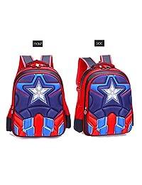 LLDDP Mochila para niños Mochila de guardería Niños de la Mochila Escolar de Capitán América Niños de 1 a 6 años Mochila de guardería para niños Spiderman (2 tamaños) Bolsa de guardería