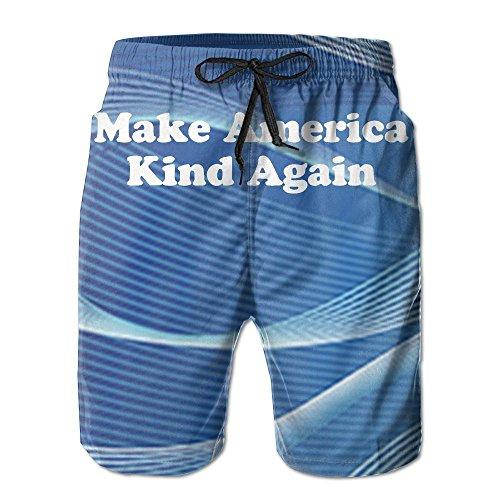 Mens Summer Make America Kind Again-1 Boardshort With (Again Mens Boardshorts)
