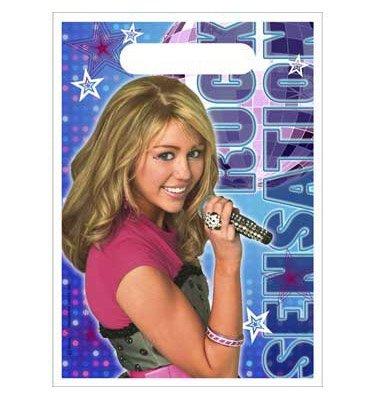 Hannah Montana Loot Bags 8ct - Montana Party Favors Stickers Hannah