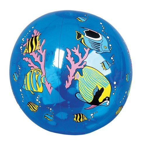 "12 Colorful TROPICAL FISH BEACH BALLS/16"" BEACHBALL Inflates"