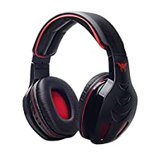 VersionTech Comfortable Wireless Bluetooth Stereo Gaming Over-Ear Headphone Headset Headband Bass with Mic FM Radio MP3 EQ TF Card Slot for Apple iPhone 6/6 Plus 5S 5C 4S iPad Air Mini Laptop PC Samsung Galaxy S6 S5 Note 5 4 3 - With Noise Canelling & Volume Control (Black)