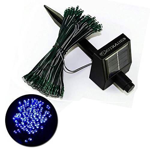 Led String Lights Outdoor Use : ZITRADES Blue 55ft 100 LED Holiday String Light for Outdoor and Indoor Use Solar Powered BY ...