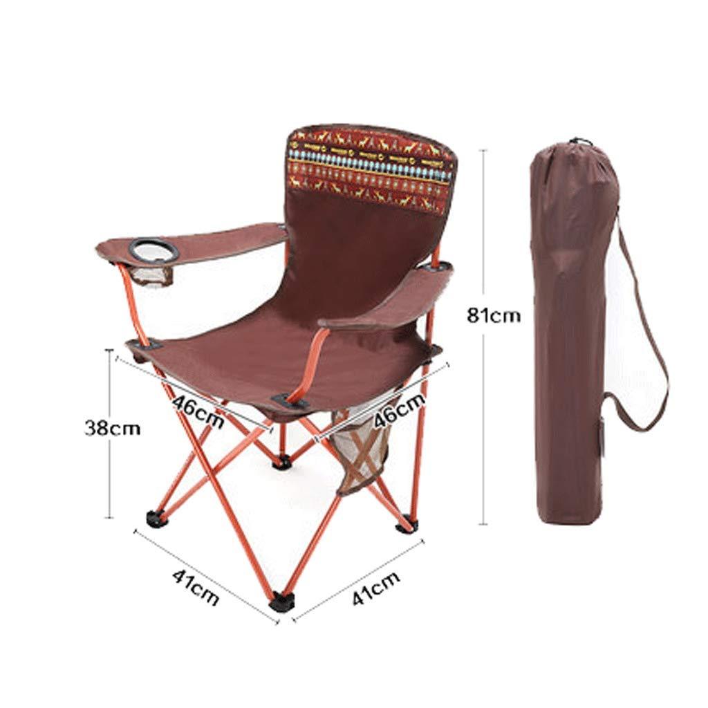 B  Ellyeall Chaise De Plage avec Accoudoir Et Porte-Gobelet en Tissu, Tissu D'extérieur pour Fauteuil Oxford, Chaise De Pique-Nique Facile à Transporter, pour Camp