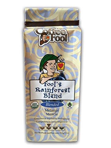 The Coffee Fool Fool's Organic Fair Trade Rainforest, Coarse Grind, 11 Ounce