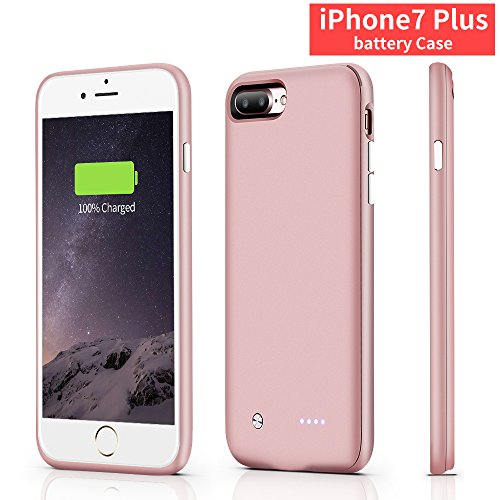 iphone 7plus battery case,CHYING iPhone Portable Charger iPhone 7 plus (5.5 inch) 4880mAh Extended Battery Pack Power Cases (Build-in Magnet Design) [ rose - Pack Case Magnet