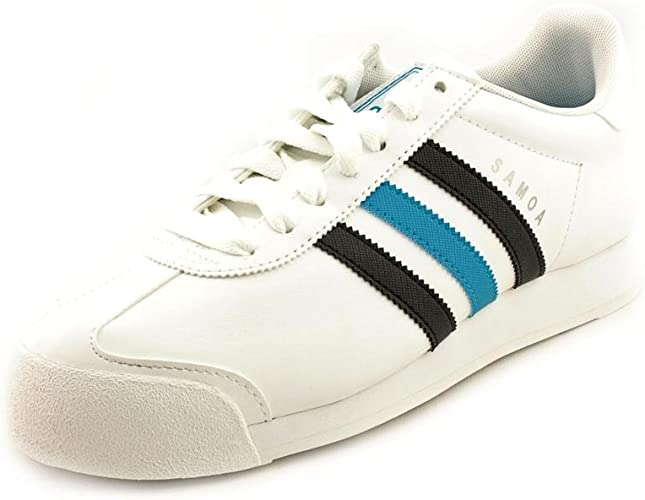 Adidas Samoa Hommes Taille 13 Cuir Blanc Sneakers Chaussures Uk ...