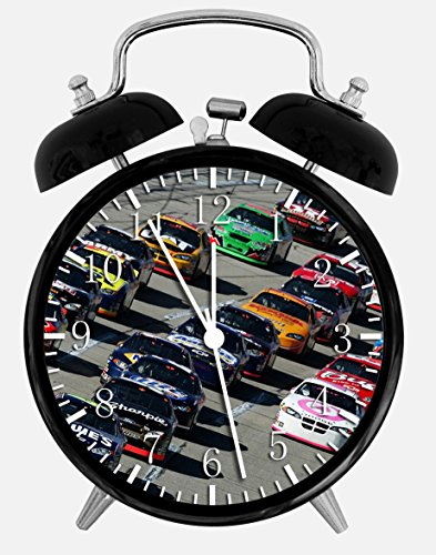 Nascar Twin Bells Alarm Desk Clock 4