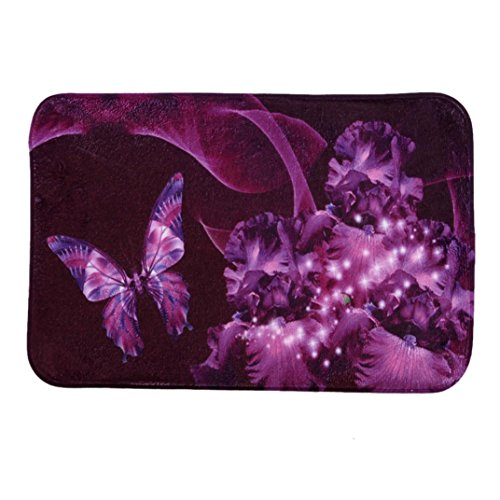 004 White Rubber - Hot Sale Butterfly, Franterd Home Life Decor Doormat Entrance Mat Floor Mat Rug Indoor/Outdoor/Front Door/Bathroom Mats Rubber Non Slip Carpet