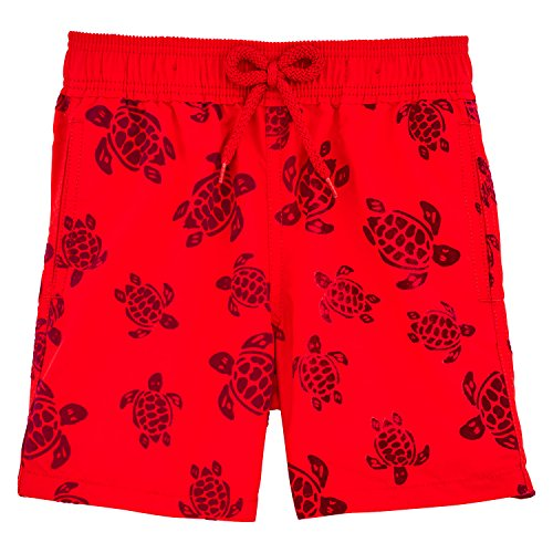 Vilebrequin Tortues Flockées Swim Shorts - Boys - Poppy Red - 6Yrs by Vilebrequin