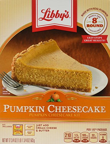 Libby's Pumpkin Cheesecake Mix, 17.75oz Box (Pack of 2) Limited Time