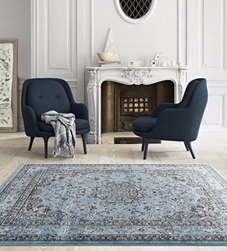 (3212 Distressed Blue 7'10x10'6 Area Rug Carpet Large New)
