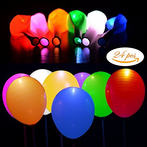 LED Light Up Balloons Blinking and Flashing Party Balloons with Clips Ideal for Birthday Bachelorette Celebrations School Activities Anniversary Wedding 3 packs 8 in 1 Mixed Color