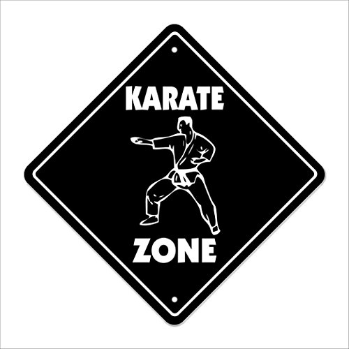 """Used, Karate Crossing Sign Zone Xing 