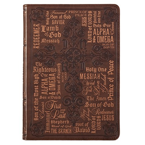 Classic Leather Journal - Names of Jesus Classic LuxLeather Journal